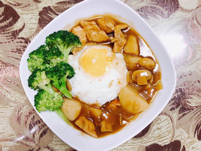 「香嫩雞胸肉咖喱飯」簡單煮