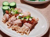 蒜泥金針豬肉卷
