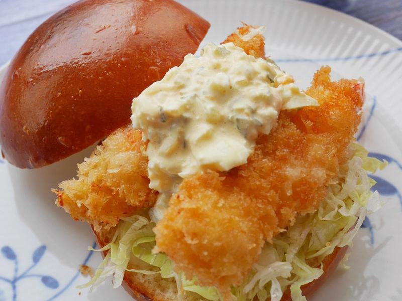 【炸蝦漢堡】