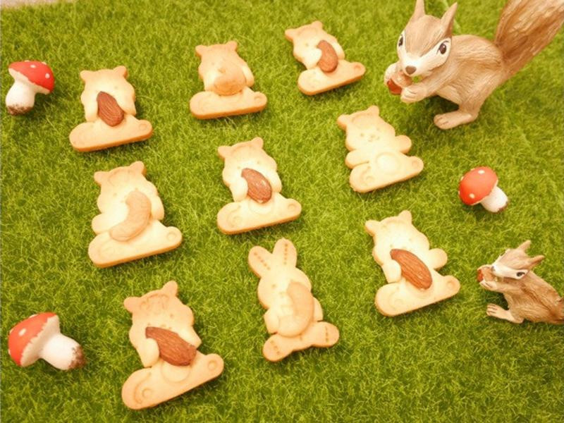 好療癒「小松鼠抱杏仁餅乾」小孩好喜歡 ♪