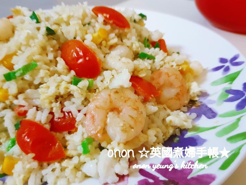 泰式🍤蝦仁蛋炒飯 超簡單15分鐘上桌