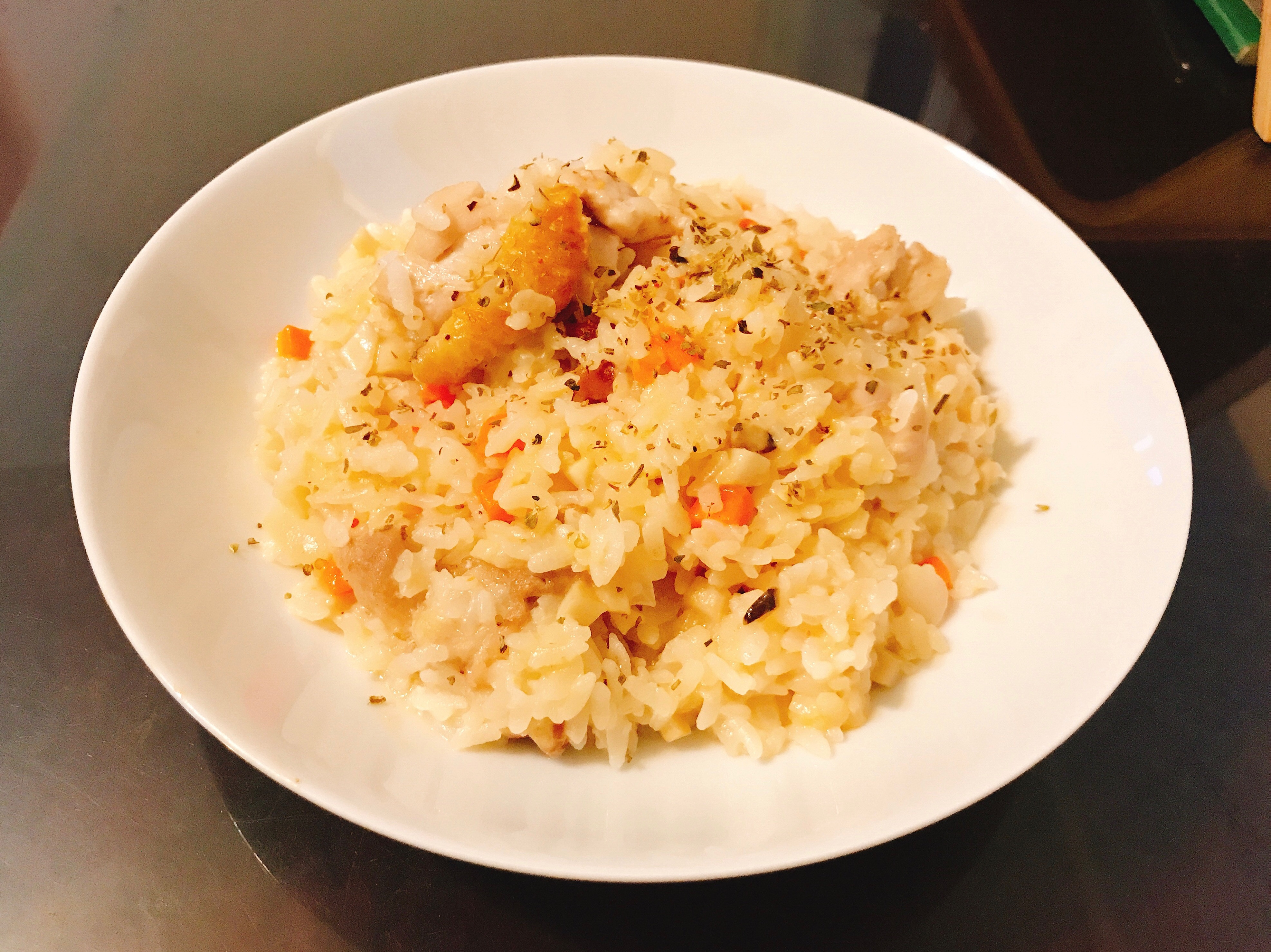 蘿蔔排骨雞燉飯(剩湯料理)