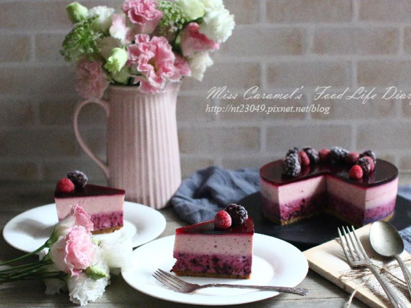 桑椹草莓生乳酪