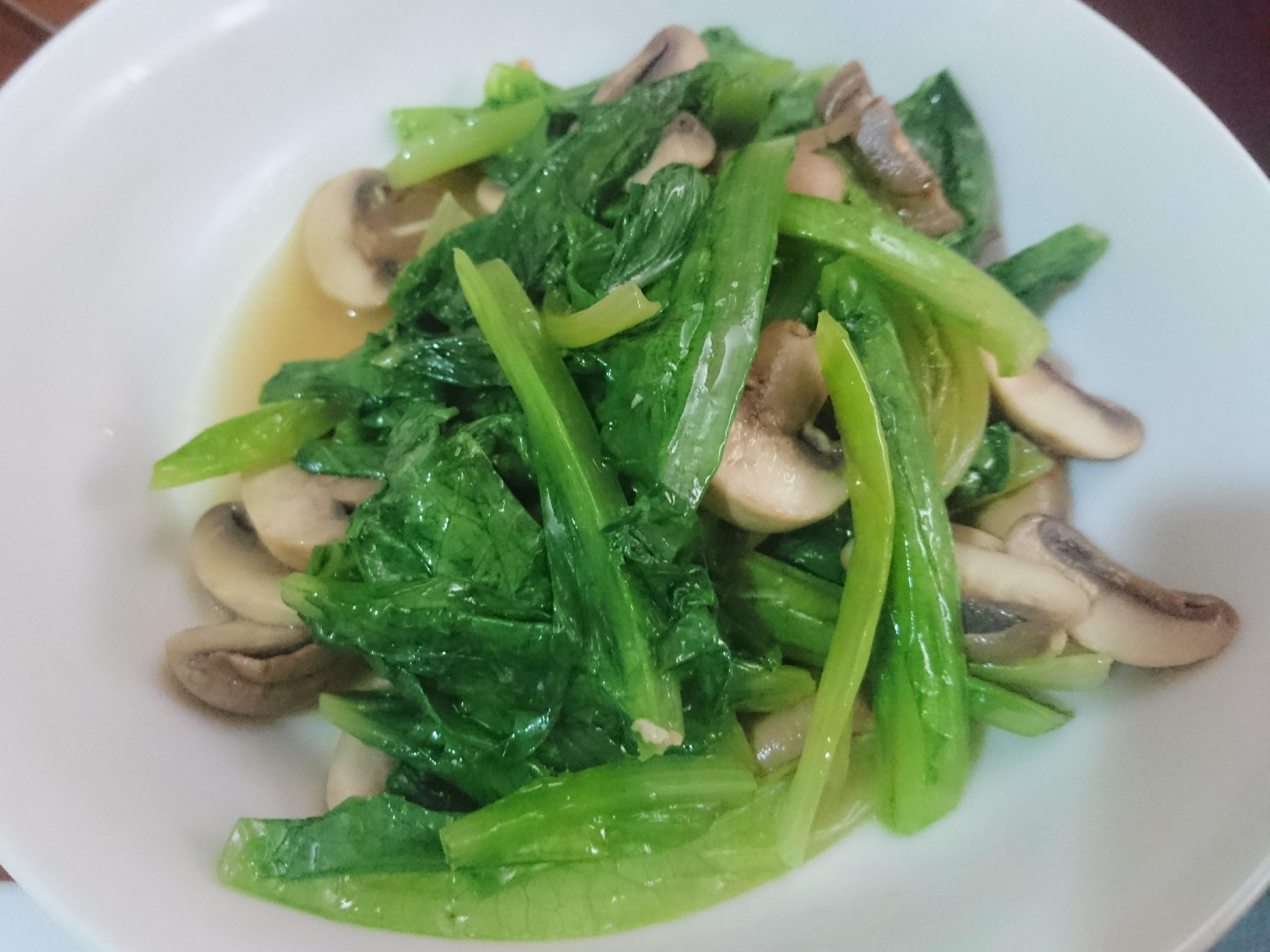 奶油蘑菇A菜 (生酮/低醣)