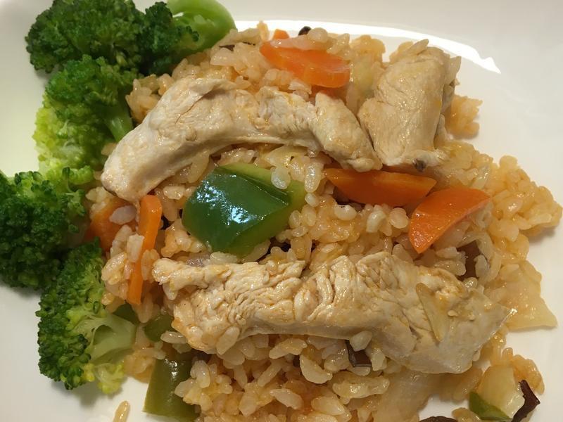 茄汁雞胸肉燉(拌)隔夜飯