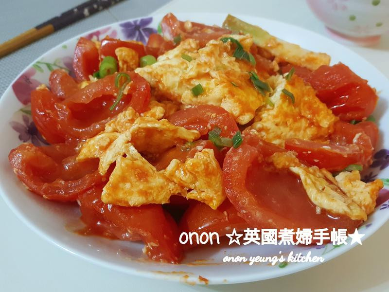 家常蕃茄炒蛋🍅 來吃簡單開胃菜~