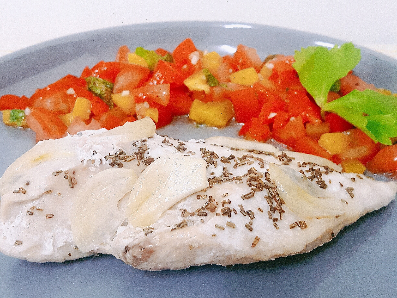橄欖油香料烤雞胸(輕盈料理)