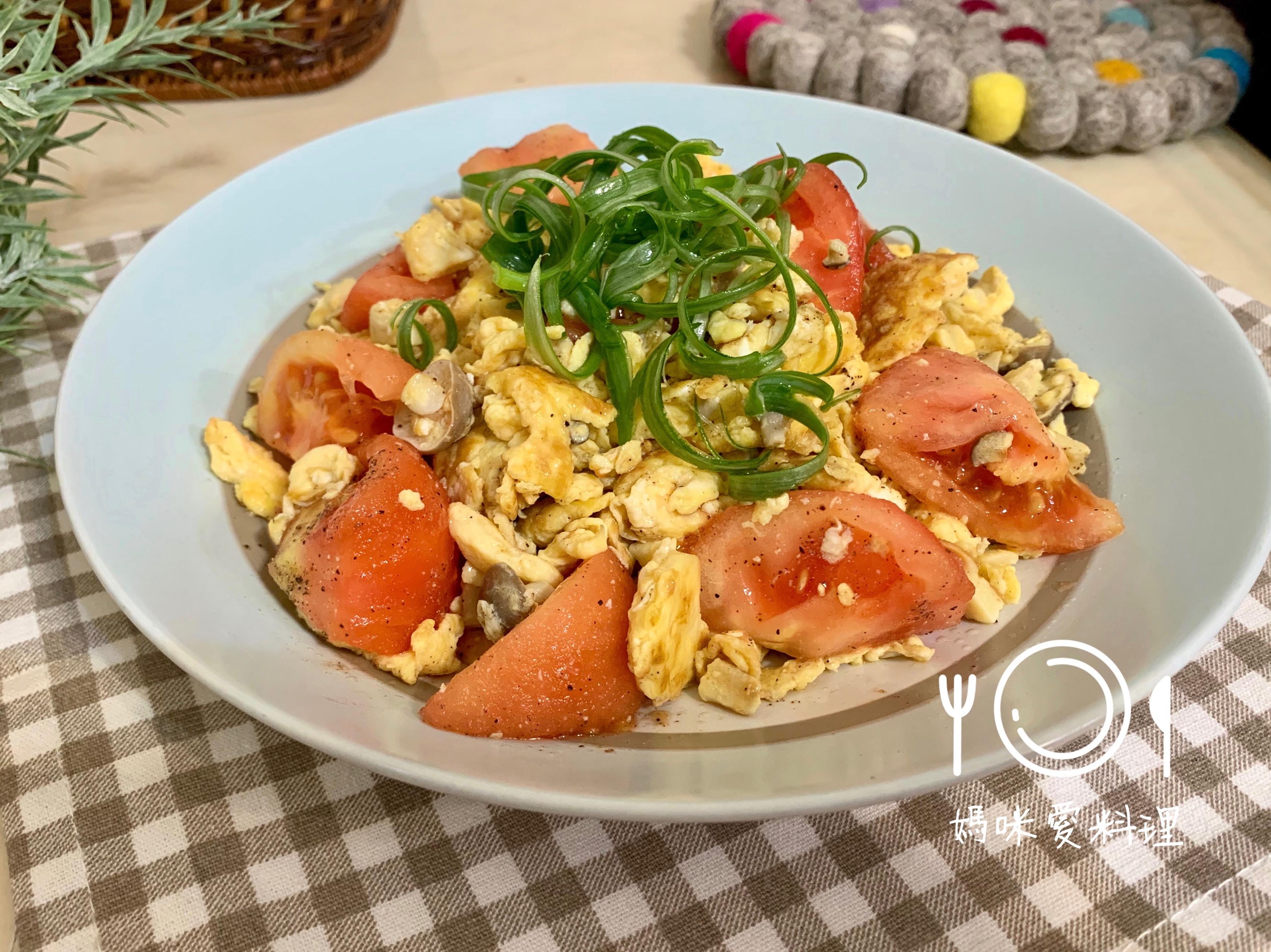 蕃茄蘑菇炒蛋(輕食版)