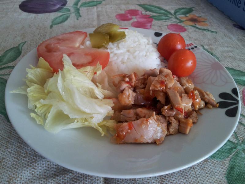超簡單的海南雞飯