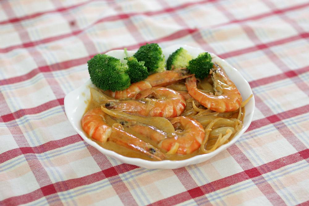 椰汁咖哩蝦