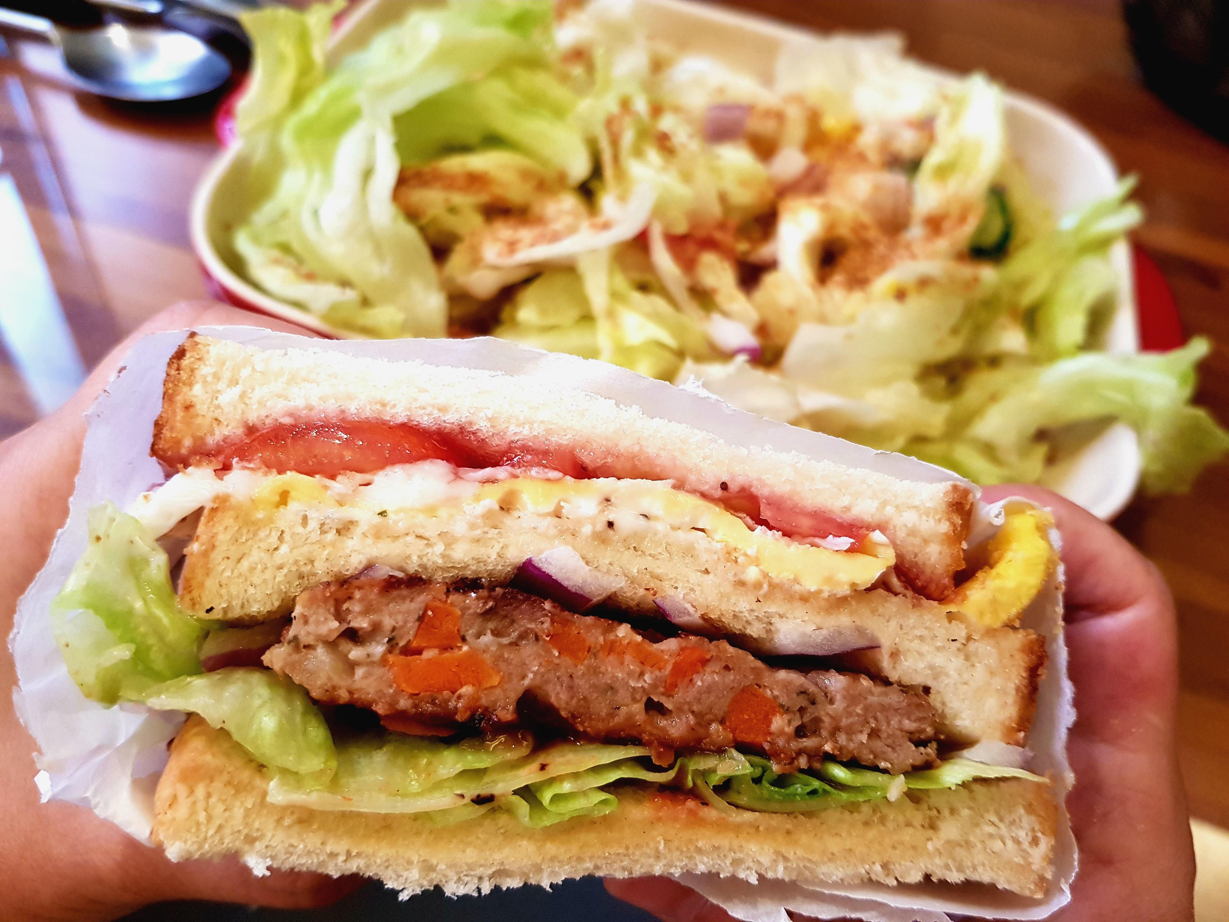 總匯三明治(漢堡肉)