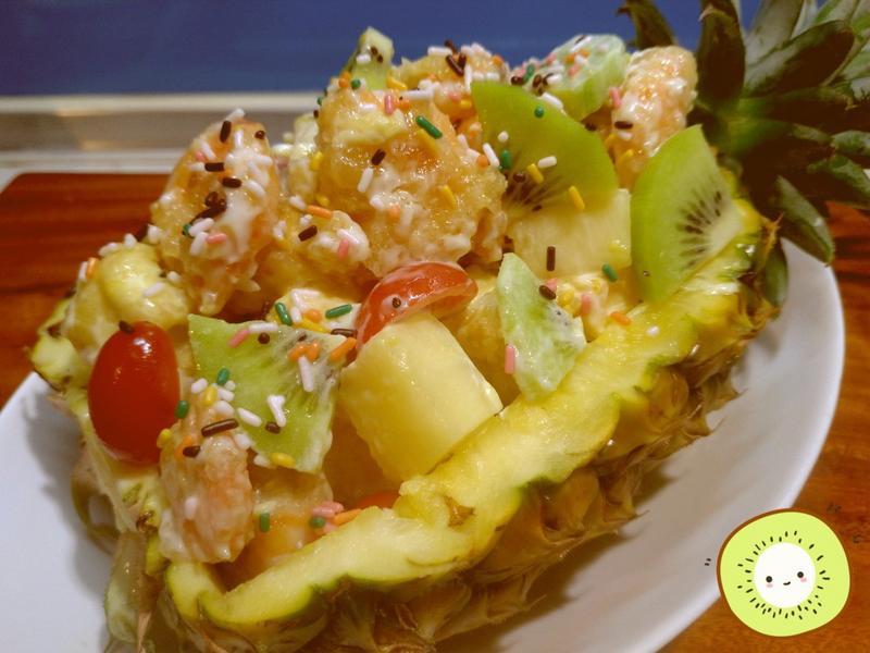 涼拌水果蝦沙拉