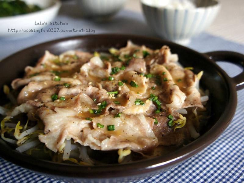 味噌銀芽豬肉蒸