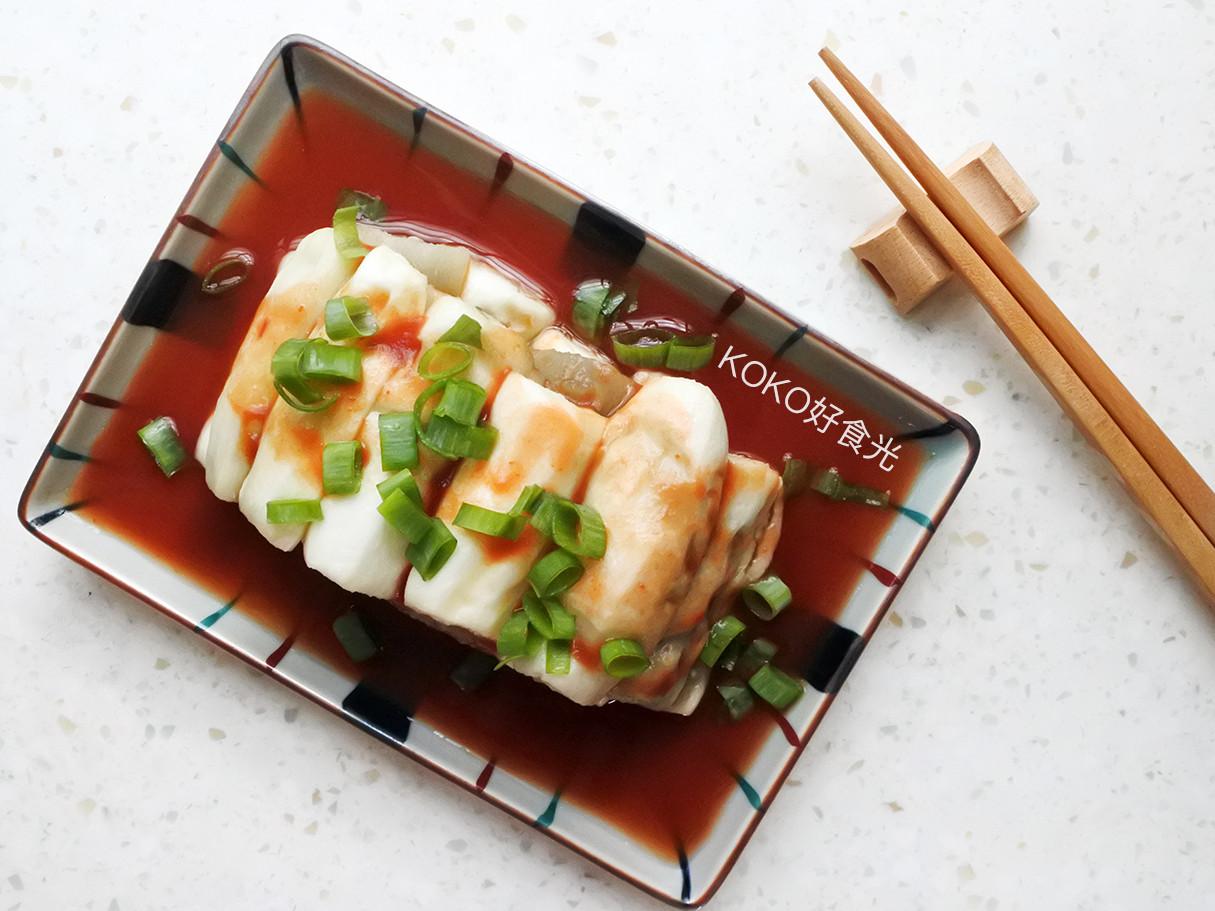 日式蕃茄紅醬蒸茄子