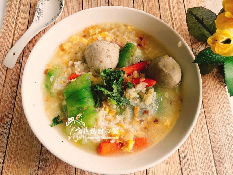 絲瓜鹹粥(一鍋到底)