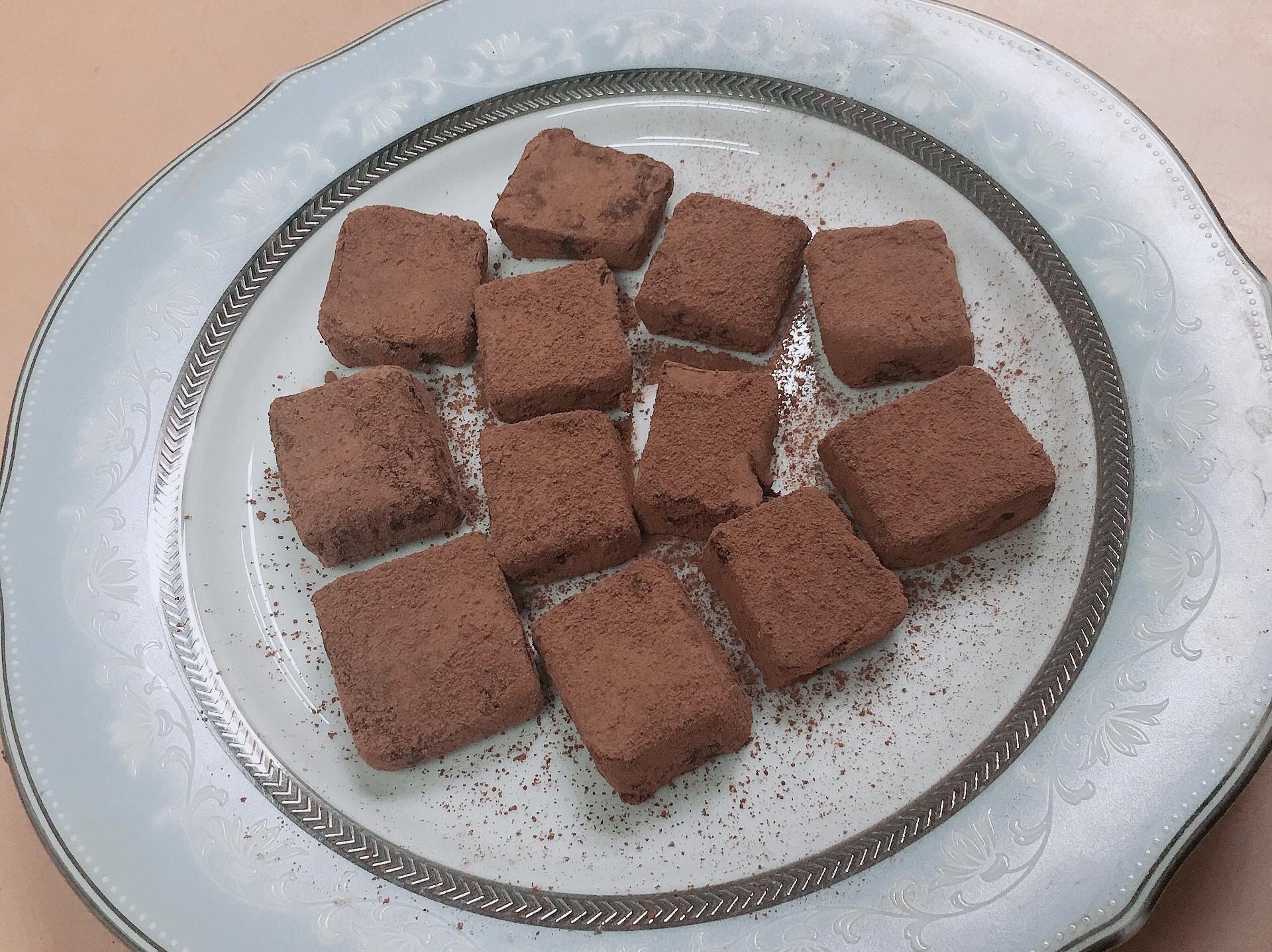 簡易生巧克力🍫✨
