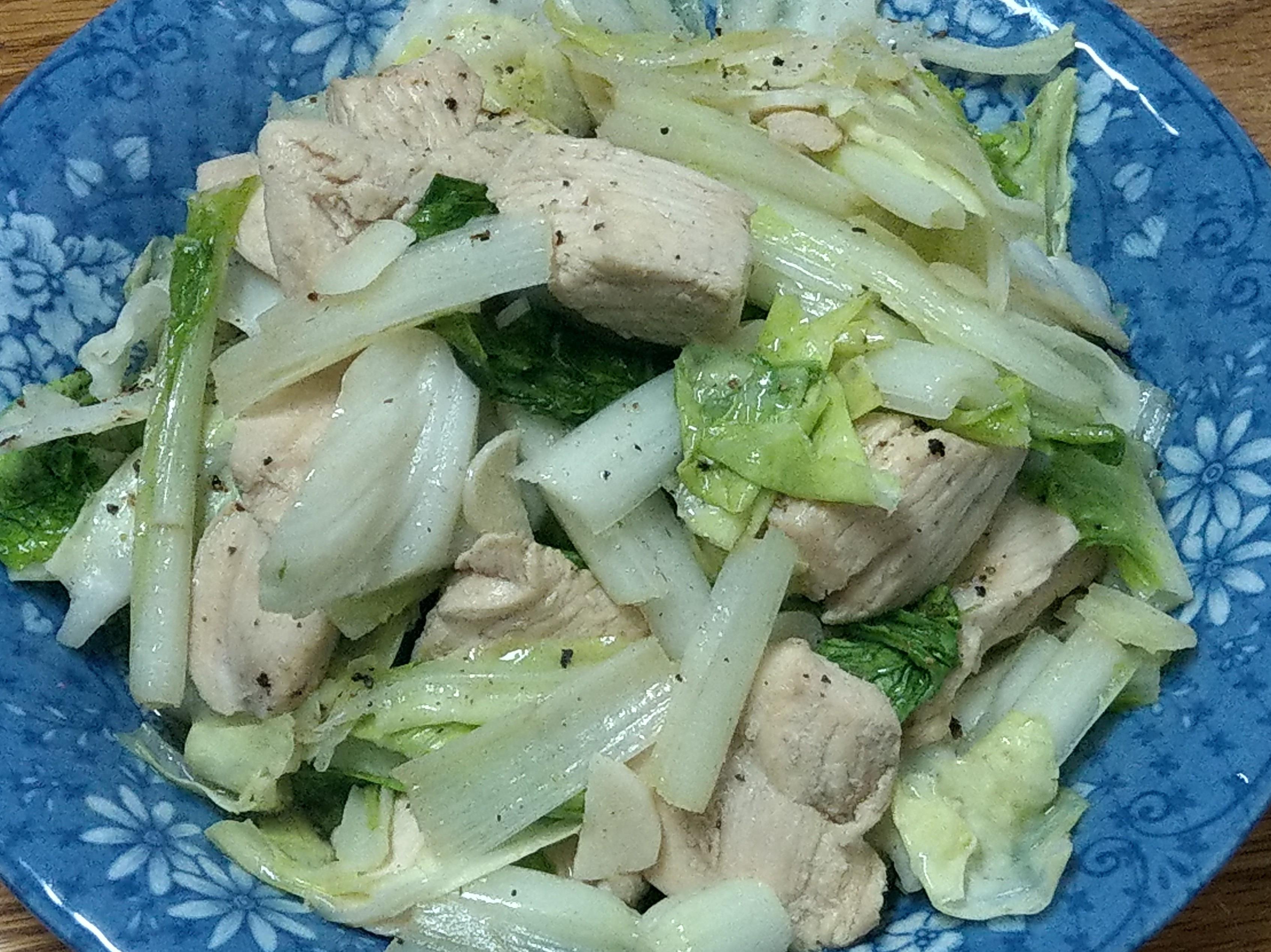 小白菜炒雞胸肉