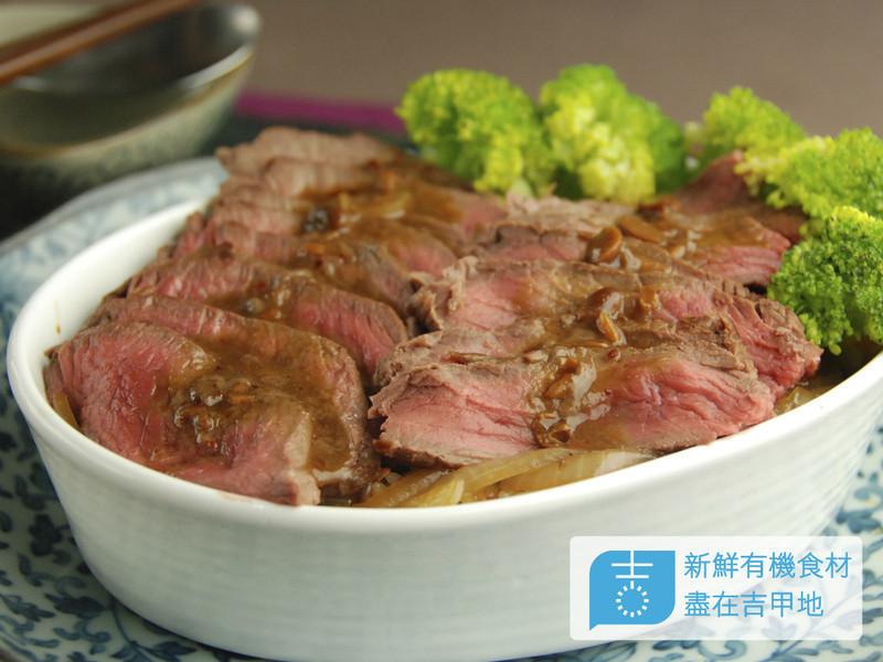【吉刻美食】紅麴味噌牛排蓋飯