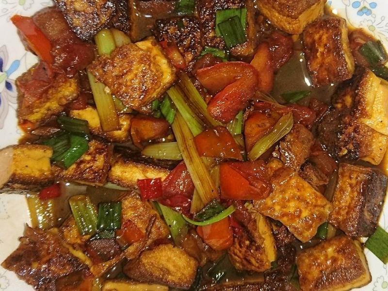 蔥燒蕃茄豆腐