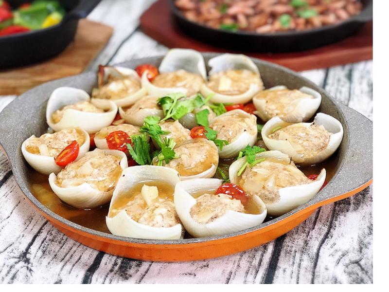 豆腐豬肉洋蔥堡 (水波爐料理)