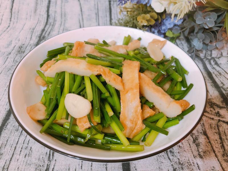 家常料理-韭菜花炒甜不辣