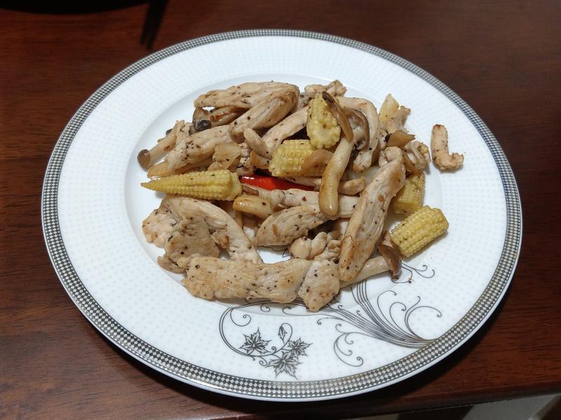 奶油炒菇菇雞胸肉