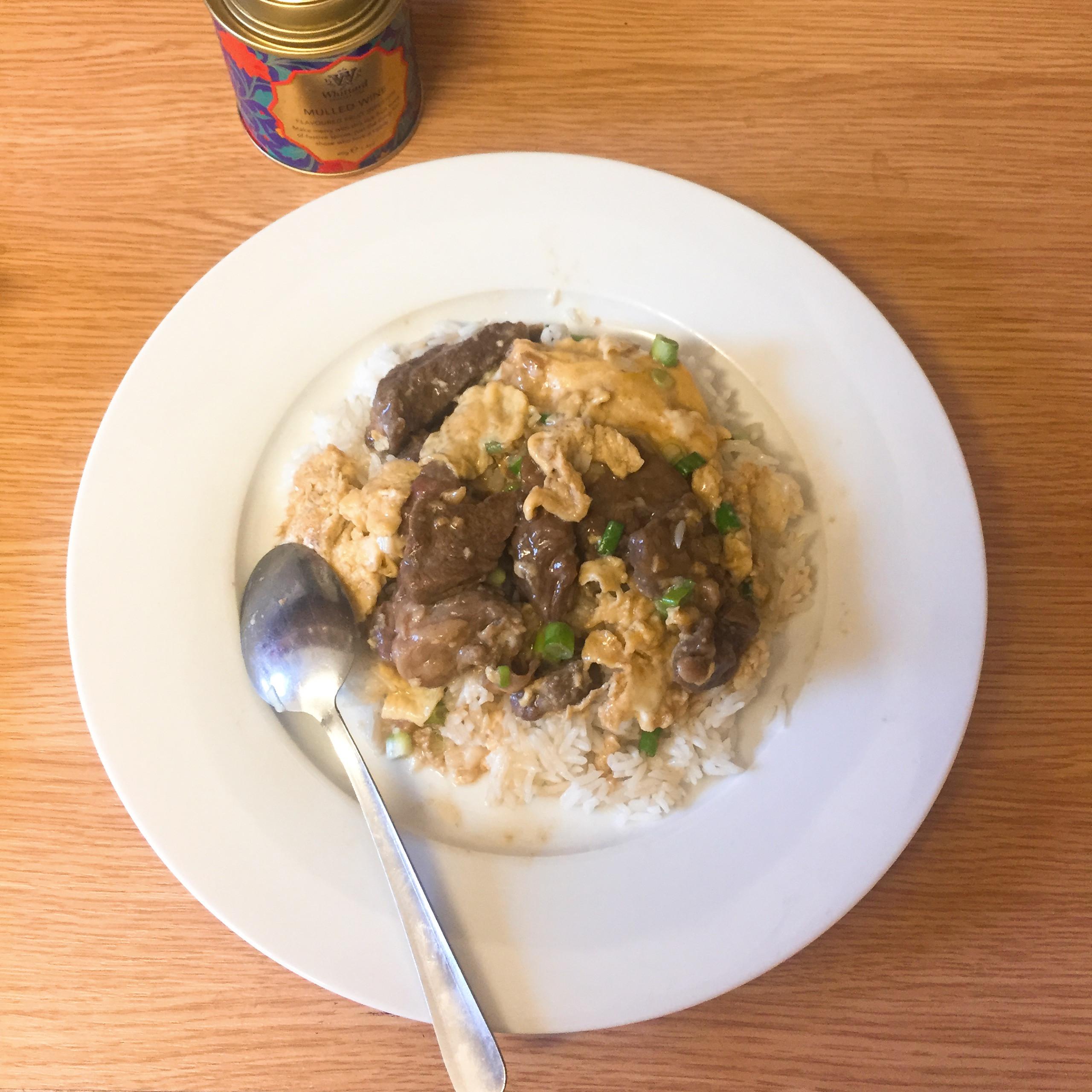 英式滑蛋牛肉飯