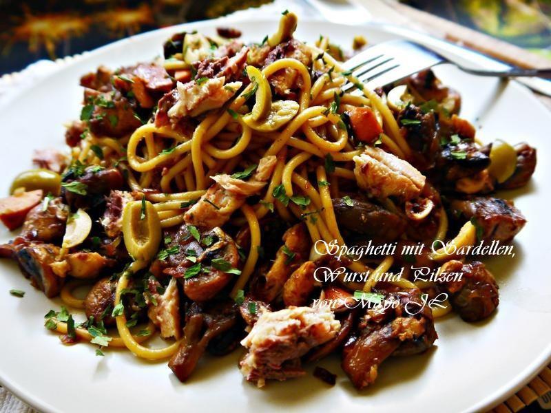 沙丁魚蘑菇義大利麵
