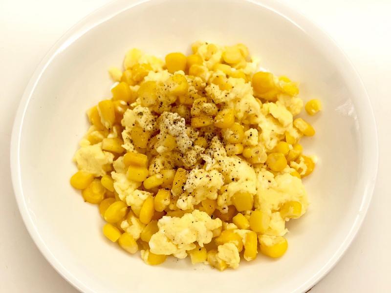 簡單好吃的玉米蛋(超懶人料理)