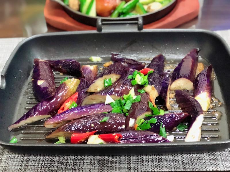 燒烤茄子(水波爐料理)