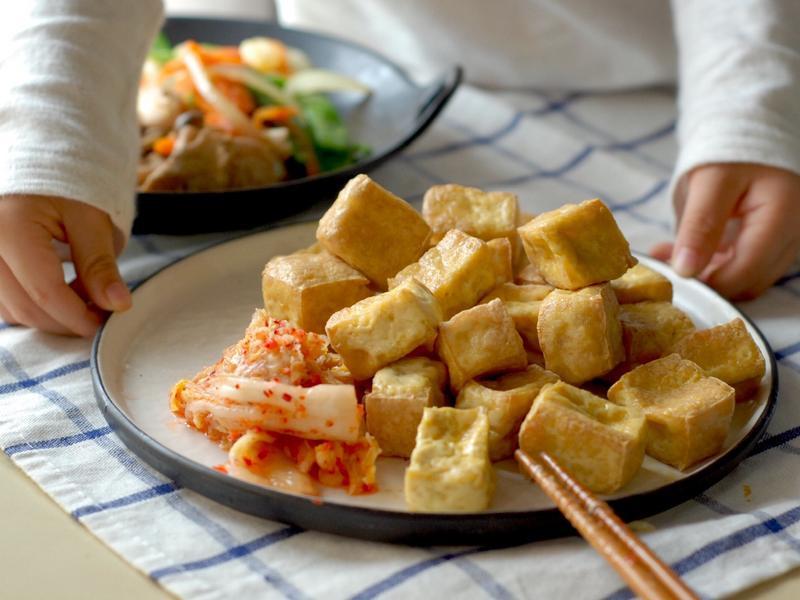 氣炸 豆腐 老皮嫩肉