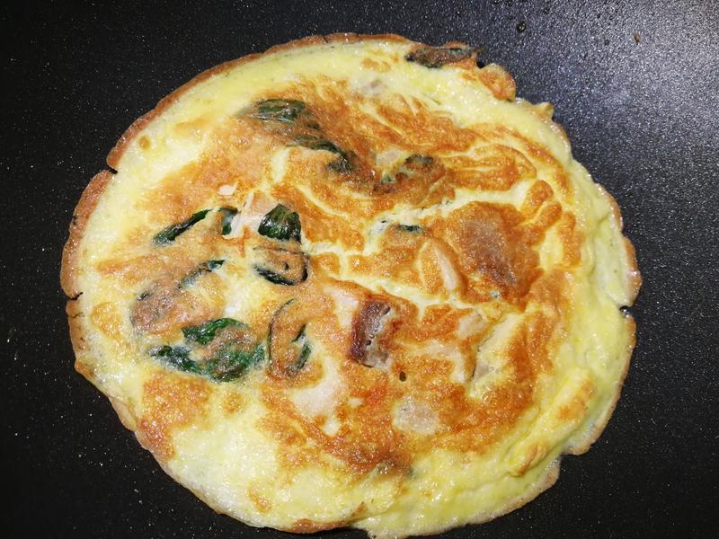 簡易低脂料理-塔香親子(九層塔、煎蛋)