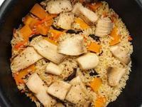 南瓜雕魚炊飯