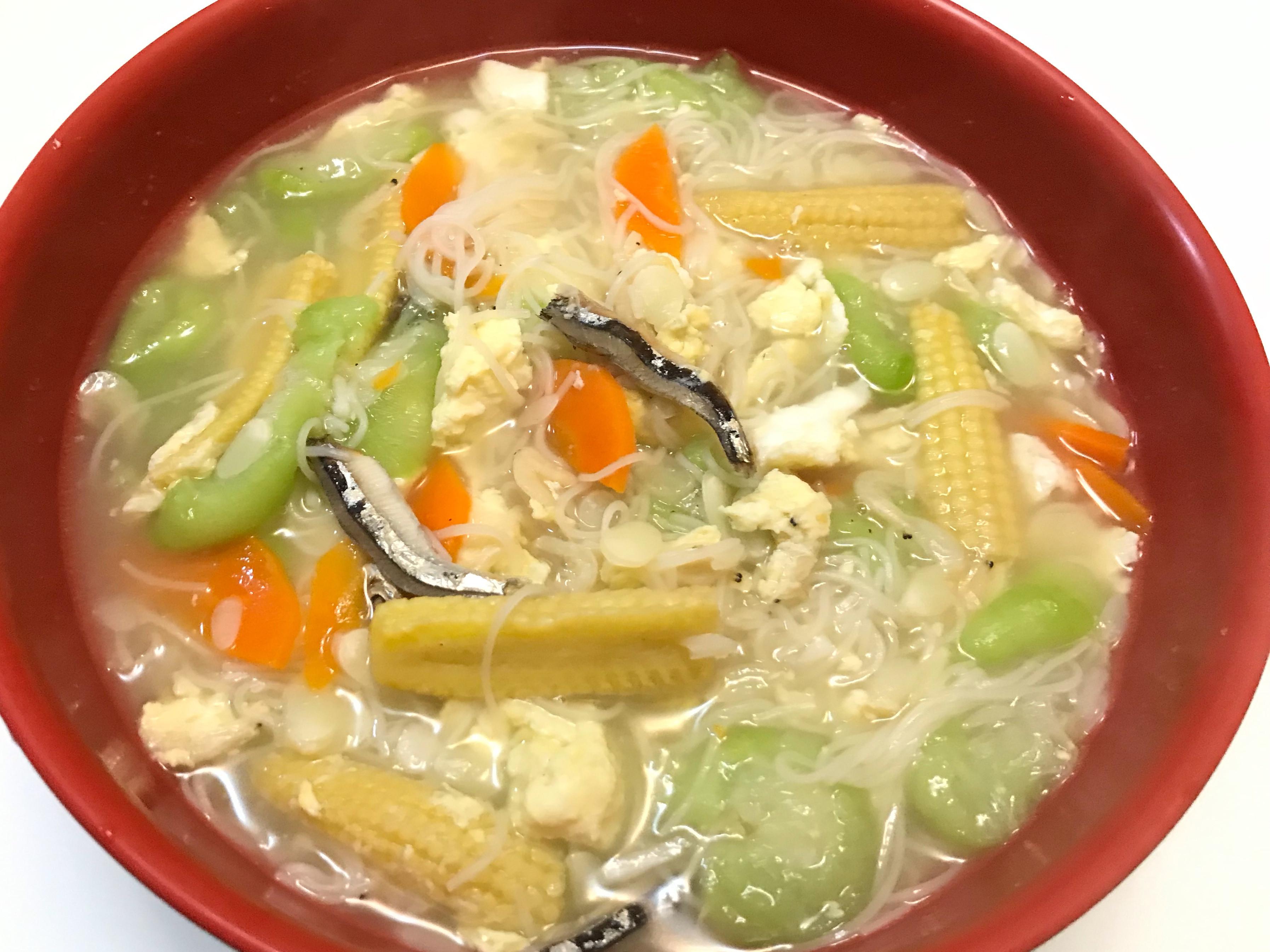 👩🏻🍳玉黍蜀絲瓜麵線