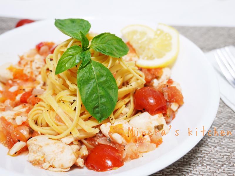 低卡茄汁雞里肌義大利麵