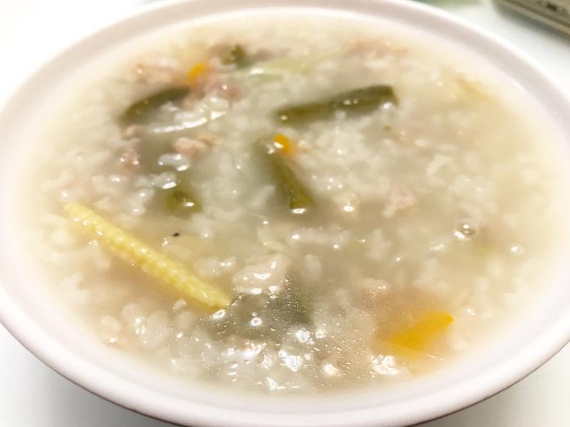 👩🏻🍳長豆肉燥蔬菜粥-有菜有肉粥