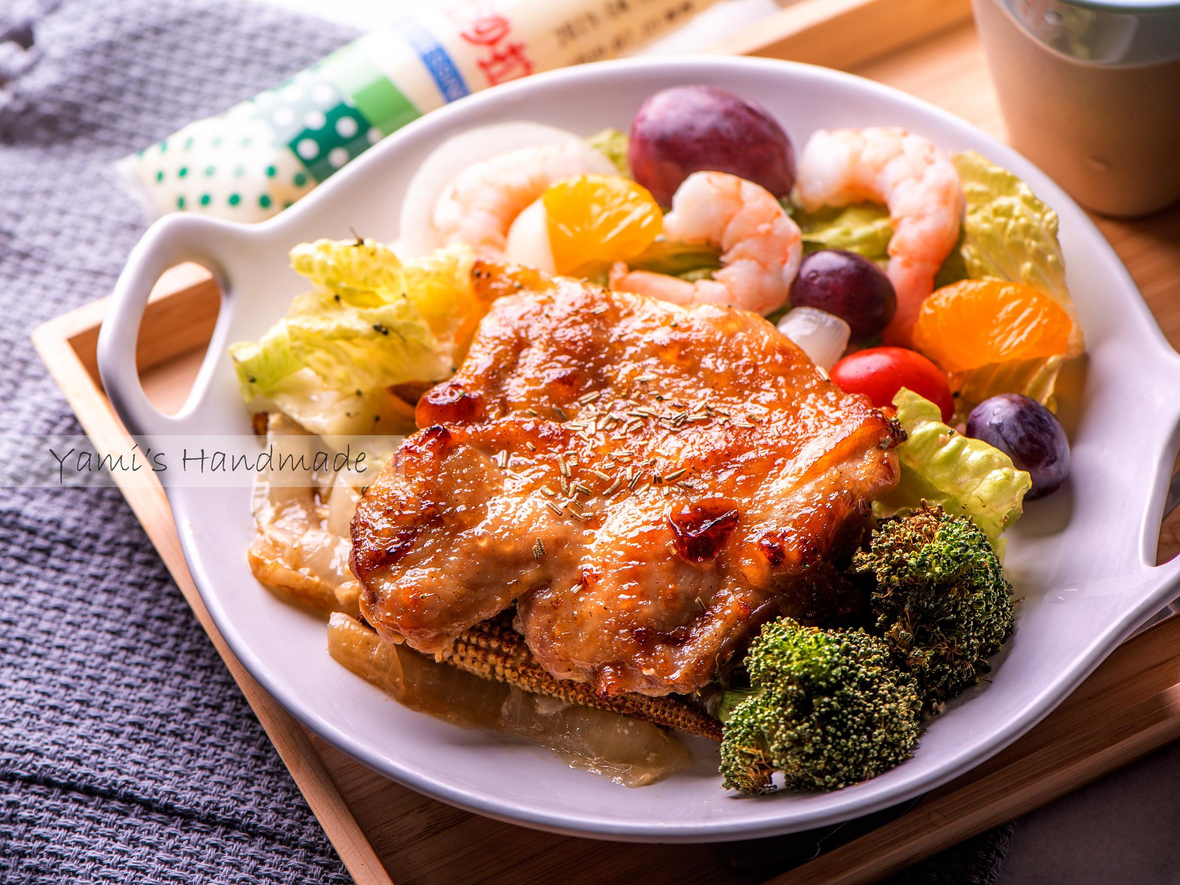 蜂蜜芥末烤雞腿排【家常菜】