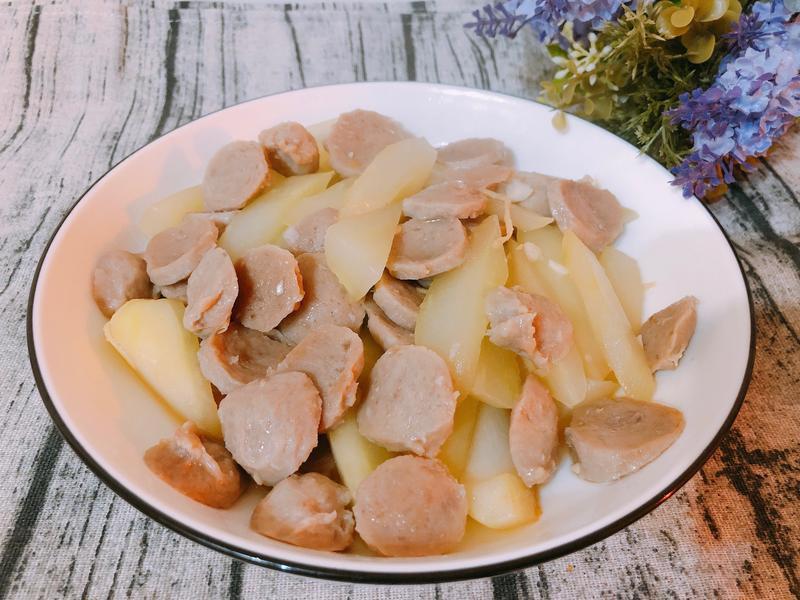 家常料理-大黃瓜炒鴨肉丸