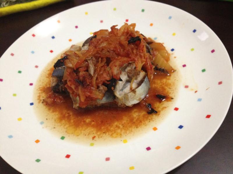 泡菜秋刀魚