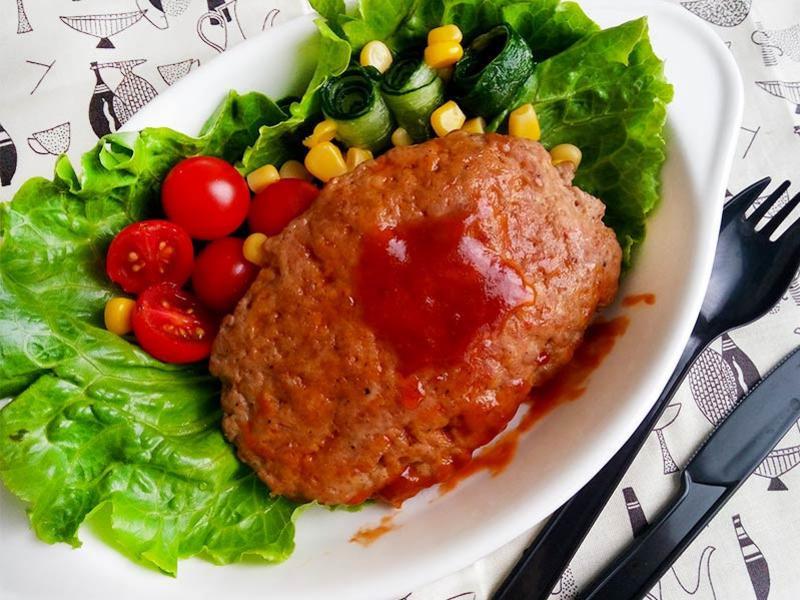 番茄醬燒漢堡排★