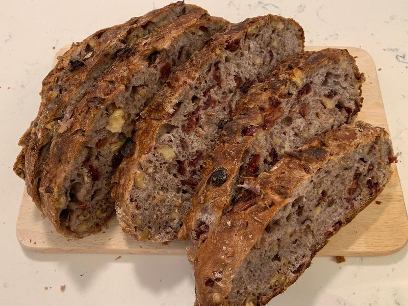 免手蔓越莓核桃歐式麵包
