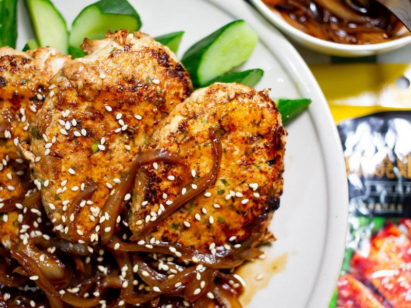 \\日式低卡-照燒豆腐雞肉漢堡排//