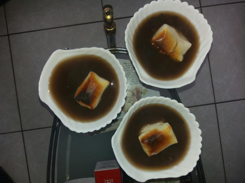紅豆年糕麻糬湯