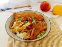 日式菇菇親子丼飯