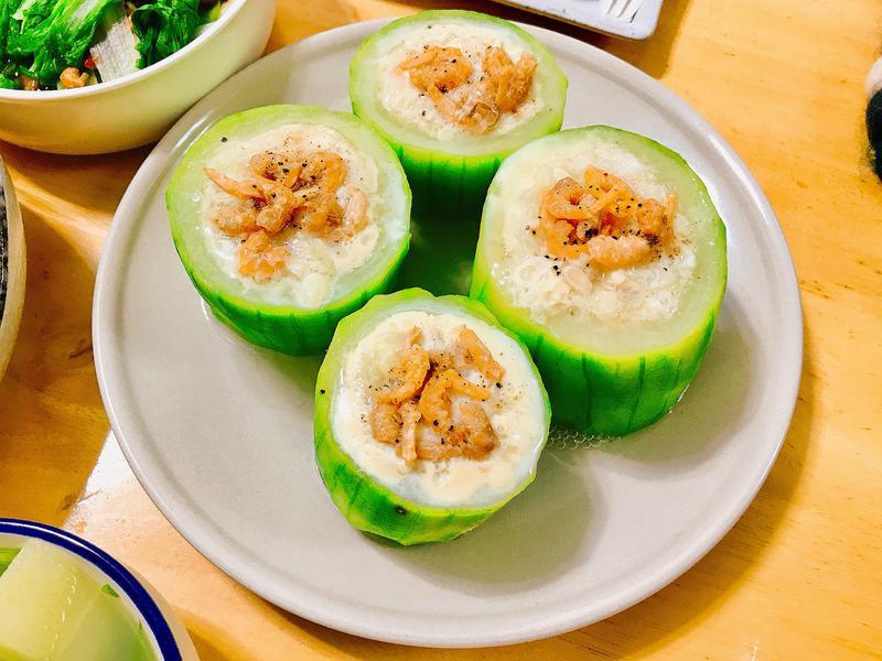 絲瓜蝦蟹蒸蛋盅 【創意料理】