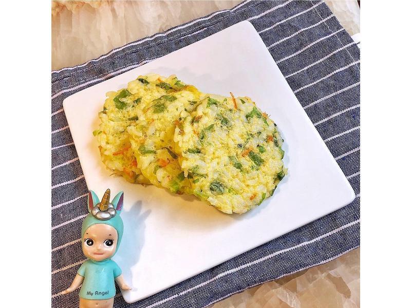 寶寶蛋香蔬菜米餅(手指食物)