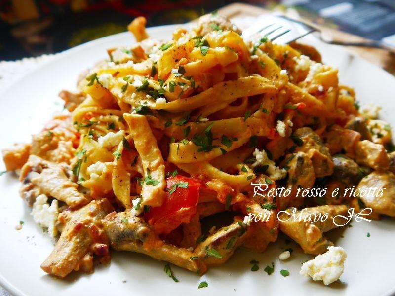 紅醬蘑菇義大利麵