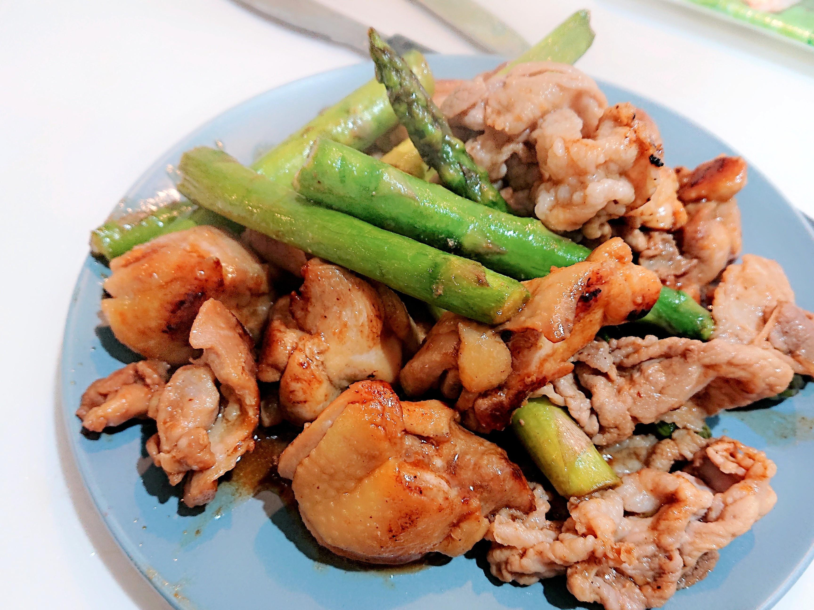 燒肉醬炒雞腿蘆筍