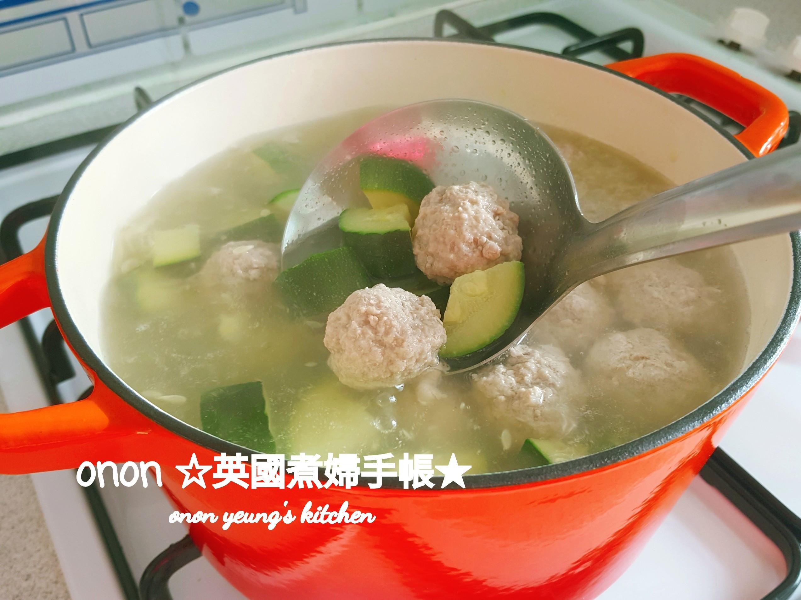 鮮甜櫛瓜肉丸子湯 簡易夏日湯水。家常菜