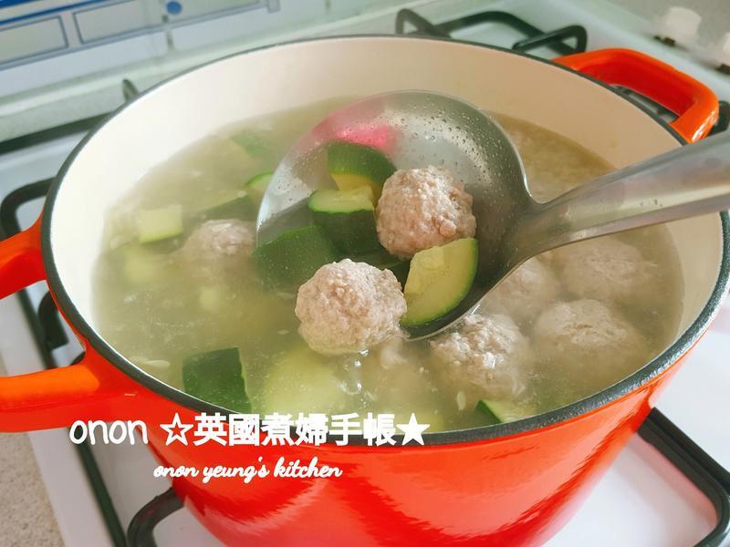鮮甜櫛瓜肉丸子湯 簡易夏日湯水👑